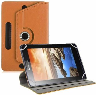 TGK Flip Cover for Lenovo A7-50 Tablet 7 inch Universal Rotating Case(Orange, Cases with Holder)