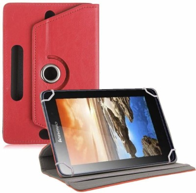 TGK Flip Cover for Lenovo A7-50 Tablet 7 inch Universal Rotating Case(Red, Cases with Holder)
