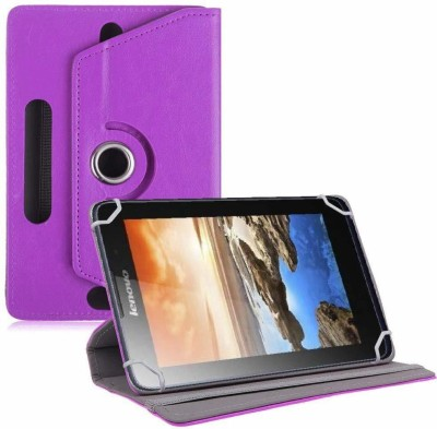 TGK Flip Cover for Lenovo A7-50 Tablet 7 inch Universal Rotating Case(Purple, Cases with Holder)