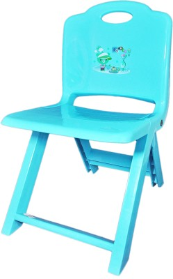 Babysid Collections Metal Chair(Finish Color - Orange)