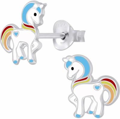 Via Mazzini Fairytale Unicorn Ear Studs 925 Silver Earrings Sterling Silver Stud Earring Via Mazzini Earrings