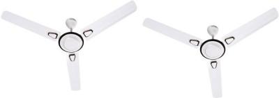 Crompton Super briz deco 1200 mm 3 Blade Ceiling Fan Pack 2 1200 mm 3 Blade Ceiling Fan(White, Pack of 2)