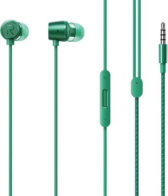 realme RMA155 Wired Headset(Green, Wired in the ear)