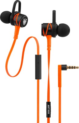 Ant Audio Wave 506 Wired Headset with Mic(Orange, In the Ear)
