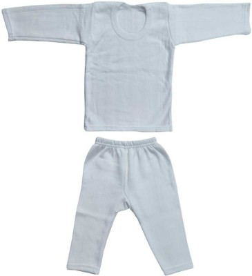 MMShopy Top - Pyjama Set For Boys & Girls(White, Pack of 1)