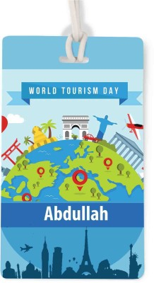 Apur Abdullah World Tourism Day Luggage Tag(Multicolor)