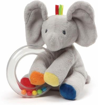GUND Baby Flappy The Elephant Stuffed Animal Rattle Plush Toy   10.9 cm Grey GUND Soft Toys