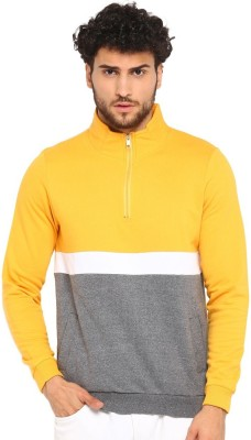 Urbano Fashion Full Sleeve Color Block Men Sweatshirt