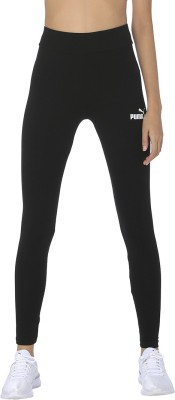 Puma Solid Women Black Tights
