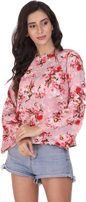 Devilal   sons Casual Bell Sleeve Floral Print Women Multicolor Top