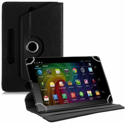 TGK Flip Cover for Micromax Funbook Duo P310 Tablet 7 inch Universal Rotating Case(Black, Cases with Holder)