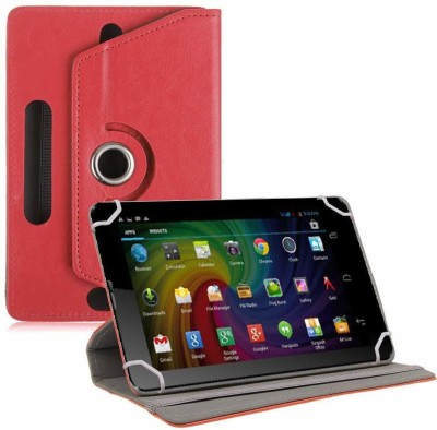 TGK Flip Cover for Micromax Funbook Duo P310 Tablet 7 inch Universal Rotating Case(Red, Cases with Holder)