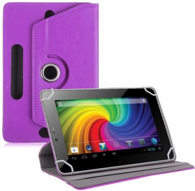 TGK Flip Cover for Micromax Funbook P255 Tablet 7 inch Universal Rotating Case(Purple, Cases with Holder)