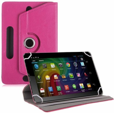 TGK Flip Cover for Micromax Funbook Duo P310 Tablet 7 inch Universal Rotating Case(Pink, Cases with Holder)