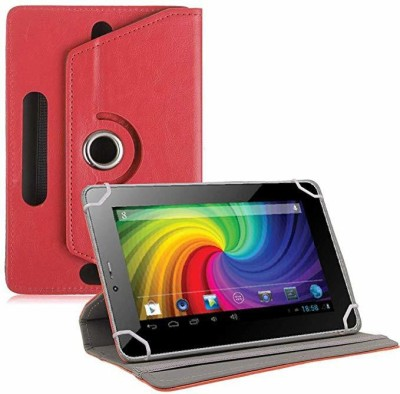 TGK Flip Cover for Micromax Funbook P255 Tablet 7 inch Universal Rotating Case(Red, Cases with Holder)