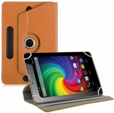 TGK Flip Cover for Micromax Funbook Mini P410i Tablet 7 inch Universal Rotating Case(Orange, Cases with Holder)
