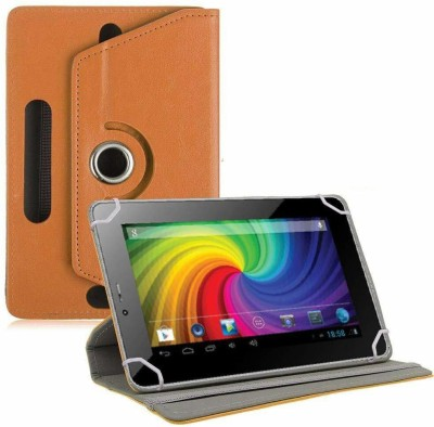 TGK Flip Cover for Micromax Funbook P255 Tablet 7 inch Universal Rotating Case(Orange, Cases with Holder)
