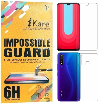 iKare Front and Back Screen Guard for Vivo U20(Pack of 2)