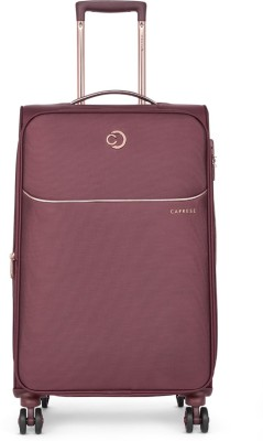 Caprese Valencia Str Exp 8W 67 Plum Expandable  Check-in Luggage - 26 inch(Maroon)