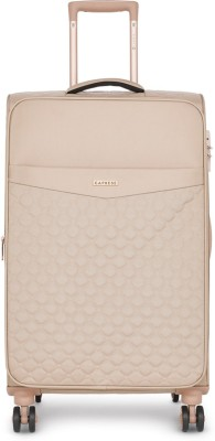 Caprese Alexandria Str Exp 8W 69 Blush Expandable  Check-in Luggage - 27 inch(Beige)