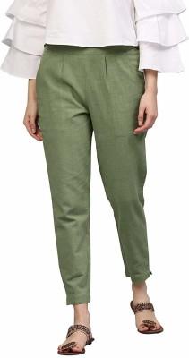 ShreeJeeFab Regular Fit Women Green Trousers