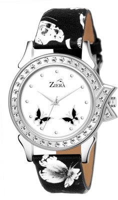 ZIERA R2018 Special dezined Butterfly White dial and Beautiful Strap Girls and Women Analog Watch   For Girls ZIERA Wrist Watches