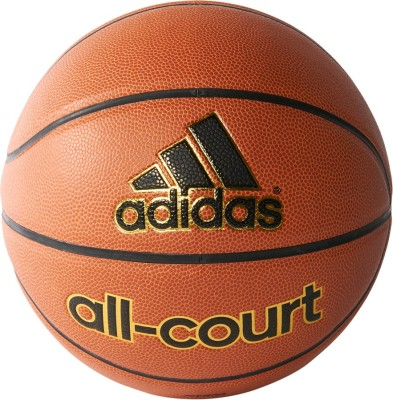 ADIDAS All-court Basketball - Size: 5  (Pack of 1, Black, Gold, Orange)