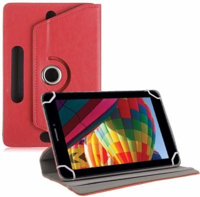 "TGK Flip Cover for iBall Slide Performance Series 3G 7271-HD70 Tablet 7""(Red, Cases with Holder)"