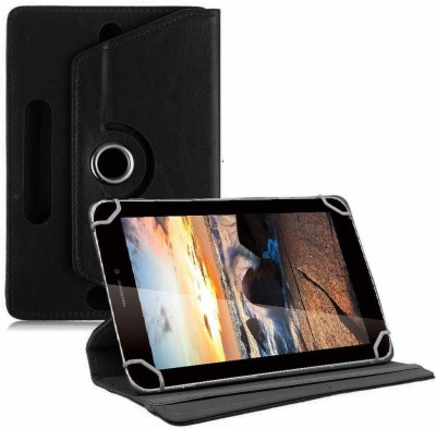 TGK Flip Cover for iBall Q7218, iBall Slide Octa A41 7 inch(Black, Cases with Holder)