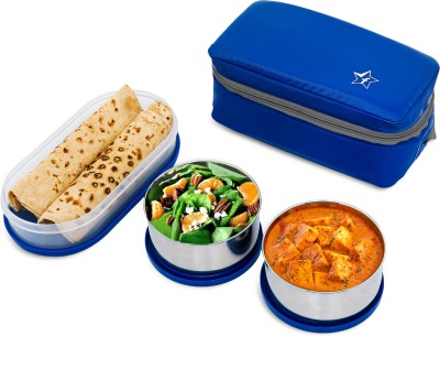 Flipkart SmartBuy Classic 3 Air Tight Containers Lunch Box (1300 ml)