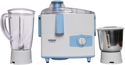 Eveready DYNAMO DX 450 W Juicer Mixer Grinder(WHITE AND BLUE, 2 Jars)