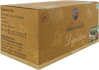 JINDAL HERBALS Digestive Tea bags 25 Sachets Herbs Herbal Tea Bags Box(62.5 g)