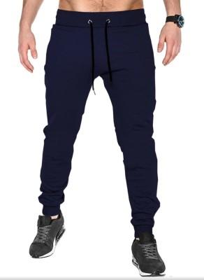KICKER Solid Men Blue Track Pants