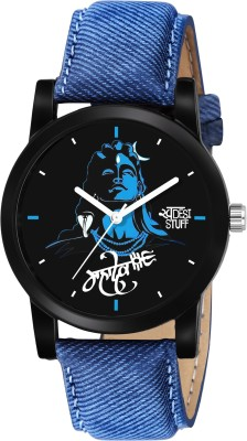 Swadesi Stuff stylish mahakal blue dial mahadev in blue strap Watch Analog Watch  - For Boys