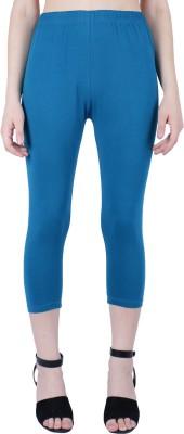 Robinbosky Capri Leggings Slim Women Blue Capri