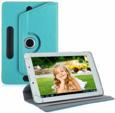 "TGK Book Cover for Ambrane A3-7 Plus Duo / AK-7000 Kids Tablet 7 ""(Blue, Cases with Holder)"