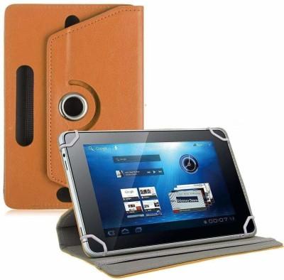 TGK Book Cover for Ubislate7DCX Tablet/DATAWIND 7DCX Plus 7 inch(Orange, Cases with Holder)
