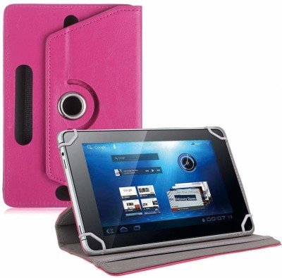 TGK Book Cover for Ubislate7DCX Tablet/DATAWIND 7DCX Plus 7 inch(Pink, Cases with Holder)