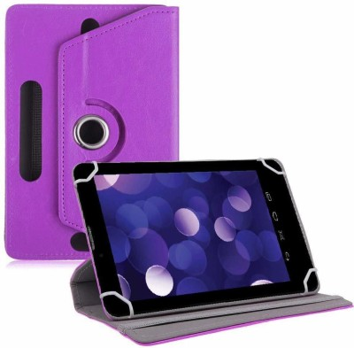 TGK Book Cover for Datawind Ubislate 7DCZ Tablet 7 inch Rotating Leather Stand Case(Purple, Cases with Holder)