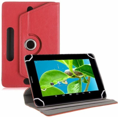 TGK Flip Cover for Datawind Ubislate 7DCX, 7CZ, 27CZ Tablet (7 inch)(Red, Cases with Holder)