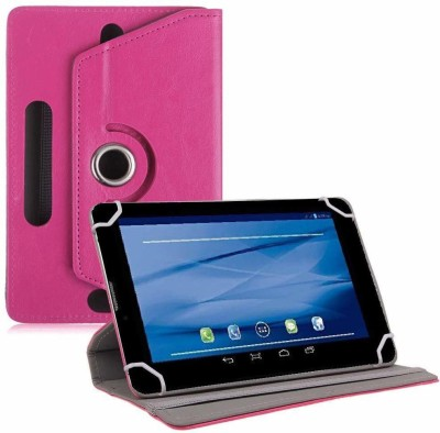 TGK Flip Cover for Datawind UbiSlate 7C Plus, 3G7Z Tablet 7 inch(Pink, Cases with Holder)