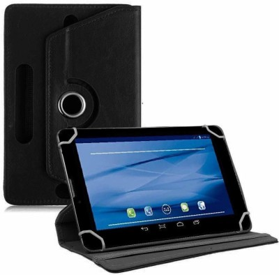TGK Flip Cover for Datawind UbiSlate 7C Plus, 3G7Z Tablet 7 inch(Black, Cases with Holder)