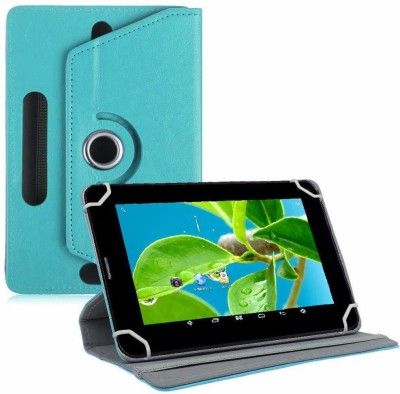 TGK Flip Cover for Datawind Ubislate 7DCX, 7CZ, 27CZ Tablet (7 inch)(Blue, Cases with Holder)