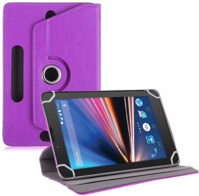 TGK Flip Cover for Lava Ivory S 4G Tablet 7 inch(Purple, Cases with Holder)