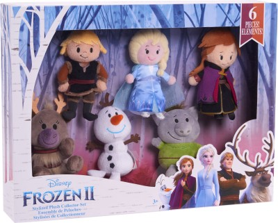 Disney Frozen Stylized Plush Collector Set Multicolor Disney Frozen Dolls   Doll Houses