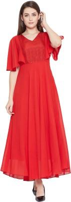 HELLO DESIGN Women A-line Red Dress