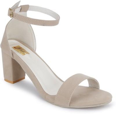 SHOFIEE Women Beige Heels