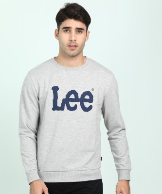 Lee Full Sleeve Solid Men Sweatshirt