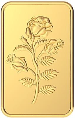 MALABAR GOLD   DIAMONDS Rose Impression 24  9999  K 2 g Yellow Gold Bar