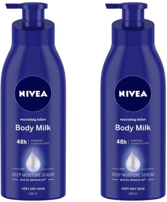 Nivea Body Milk Nourishing Lotion (400 ml) SET OF 2(800 ml)